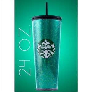 NWT Starbucks Venti Holiday green mercury cold cup